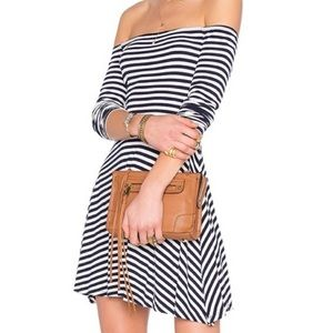Lovers + Friends Striped Off the Shoulder Dress